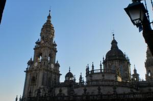 Una parte alta de la Catedral de Santiago de Compostela (Plaza de la Quintana)